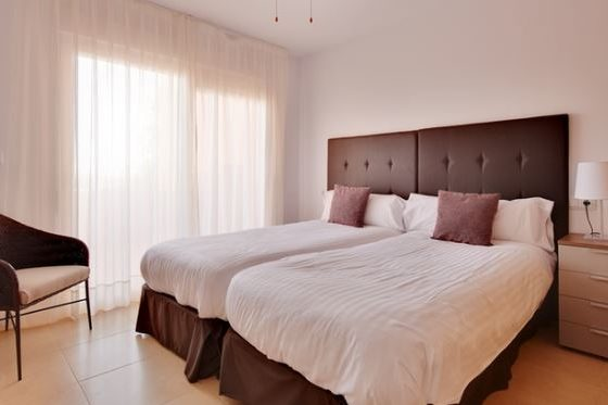 1 Bedroom Melvin Apartment Bedroom On Mar Menor Golf Resort