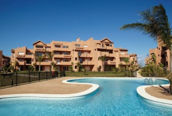 Pool And Block For 1 Bedroom Melvin Apartment On Mar Menor Golf Resort